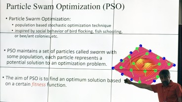 PSO method to create teams